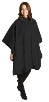 All Purpose Waterproof Vinyl Cape, Black, Extra Large