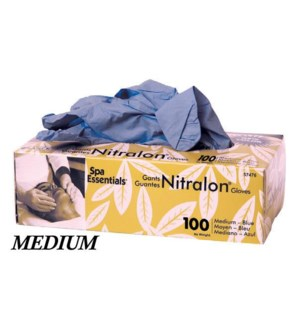 Blue Nitrile Gloves, Medium 100/Box