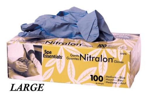 Blue Nitrile Gloves Large 100/Box