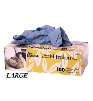 Blue Nitrile Gloves Large 100/Box