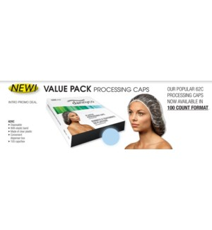Clear Plastic Cap W/Elastic 100/Box