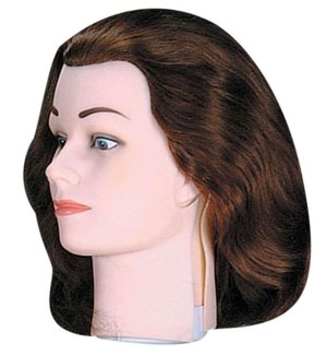 Slip-On Euro Hair, Brown, Approximately 14 Inches