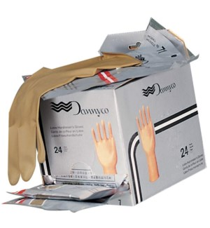 *BF Brown Latex Gloves 7in 1pr MEDIUM FULL