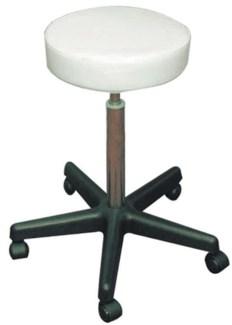 Round Seat Stool Hydralic, White