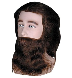 Prem Male Competition Mannequin w/ Beard & Moustache, Approximately 10 Inches