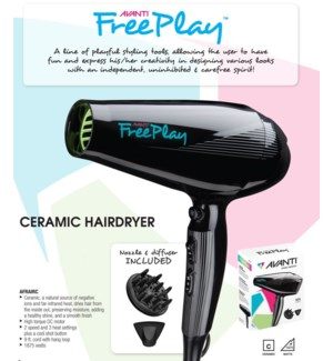 AVANTI FREEPLAY Ceramic Hair Dryer