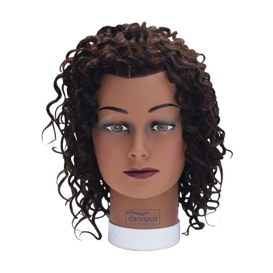 Afro Curl Dark Skin Mannequin Head, 12 Inches BESAFROCURLUCC