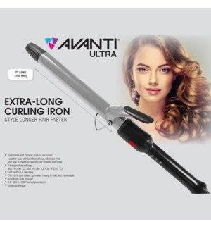 AVANTI ULTRA 1 1/4 Inch  Extra Long Curling Iron