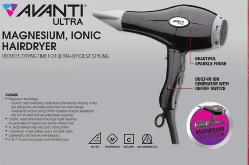 Avanti Magnesium Hair Dryer