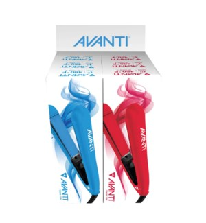 "AVANTI 6pc 1"" Titanium & Ceramic Flat Irons Display SO2020"