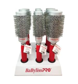 BABYLISS 9pc Ceramic Brush Display HD2021 BRILLIANCE