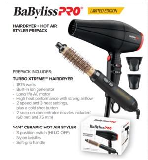 BABYLISSPRO Hair Dryer + Hot Air Styler Prepack JF2021