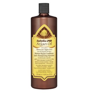 BABYLISSPRO Argan Oil Moisture Repair Conditioner, 33oz (Litre)