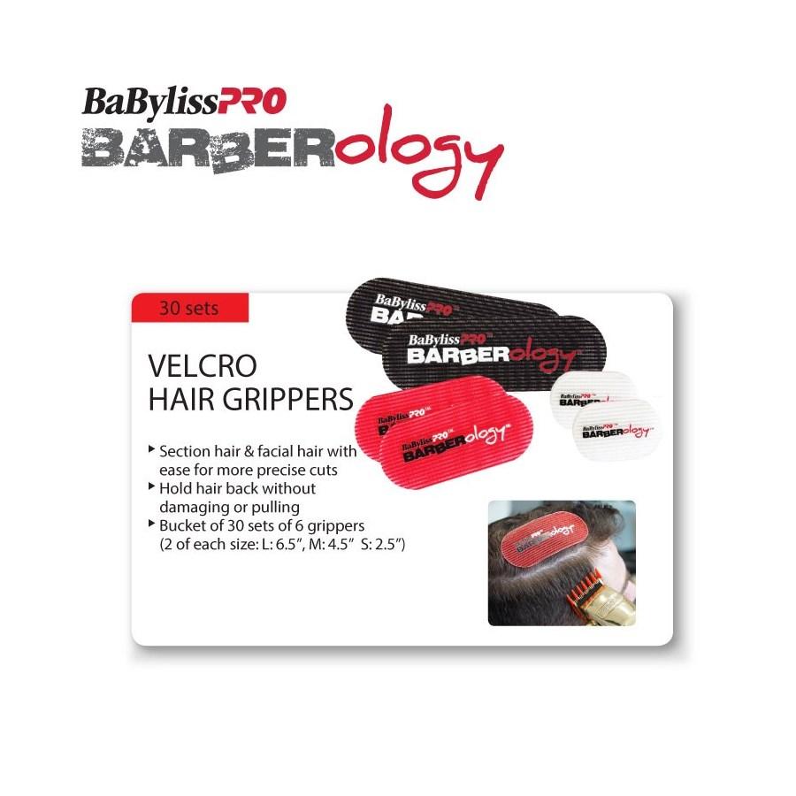 @ BABYLISSPRO Barberology Velcro Hair Gripper Separators 30 PCS