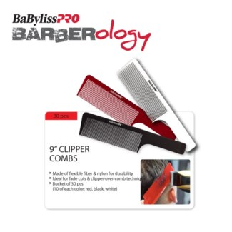 BABYLISSPRO Barberology 9 Inch Barber Combs 30 PCS