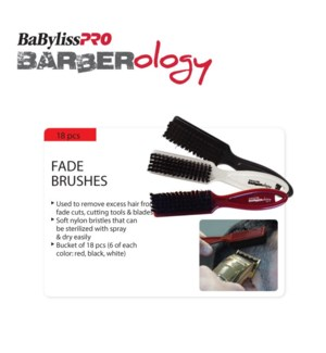 *BF BABYLISSPRO Barberology Fade Cleaning Brushes 18 PCS