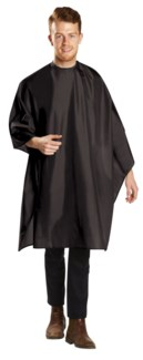 BABYLISSPRO Deluxe Cutting Cape, Extra Large, Water Repellant, Black