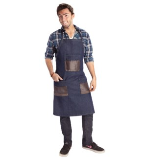 BABYLISS Denim Barber Apron W/ Adjustable Neck Straps