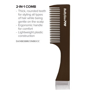 BABYLISS PRO 2in1 Comb for Hair and Beard
