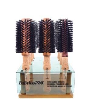 BABYLISS PRO 12pc Cork Handle Brush Display