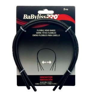 BABYLISSPRO Black Flexible Head Bands, 2/Pack