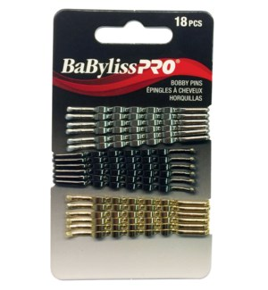 BABYLISSPRO Crimped Bobby Pins, 2.5 Inch, 18/Pack