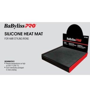 *BF 12pc Silicone Black Heat Mat Display
