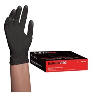 Large Disposable Black Nitrile Gloves 100/Box CNBO
