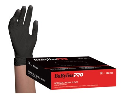 Medium Disposable Black Nitrile Gloves 100/Box CNBO