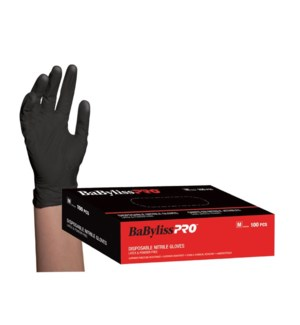 Medium Disposable Black Nitrile Gloves 100/Box CNBO