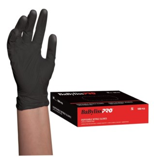 Small Disposable Black Nitrile Gloves 100/Box CNBO