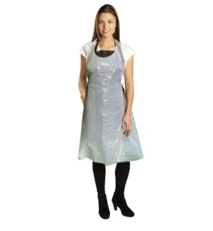 White Disposable Salon Apron 50pc PPE
