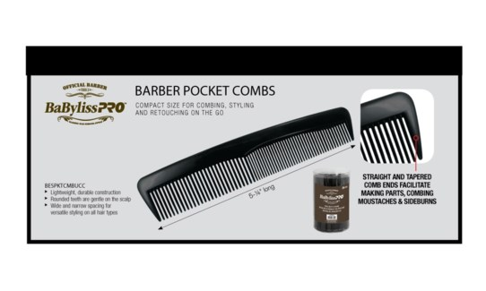 BABYLISS PRO 36pc Barber Pocket Combs