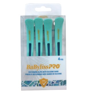 4pc Babyliss Sectioning Clips MEDITERRANEO