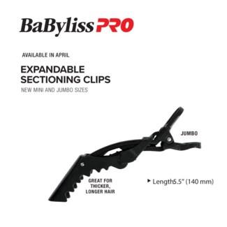BABYLISSPRO Expandable Jumbo Clips 4pk MA19