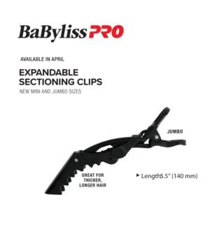 BABYLISSPRO Expandable Jumbo Clips 4pk