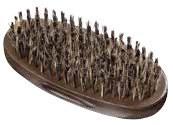 9-Row Oval Palm Barber Brush 100% BOAR