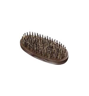 9-Row Oval Palm Barber Brush 100% BOAR BESPALMBRUCC