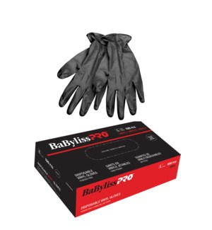 BABYLISS Style Touch Black Vinyl Gloves LARGE