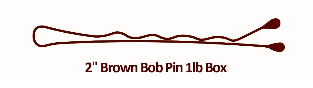 2 Brown Bob Pin 1lb Box BESBOBREGBRUCC