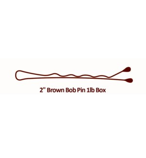 Brown Bobby Pins, 2 Inch, 1lb BESBOBREGBRUCC CR12