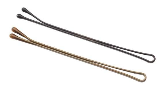 Long Flat Bobby Pins(Brown)