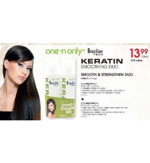 One & Only keratin Smooth & Strength Duo