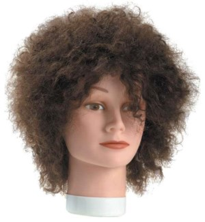 Frizzy Hair Mannequin, Approximately 8 Inches