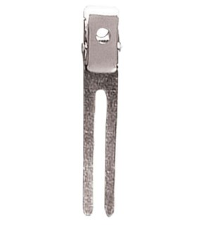 Double Prong Metal Clips, 100/Box