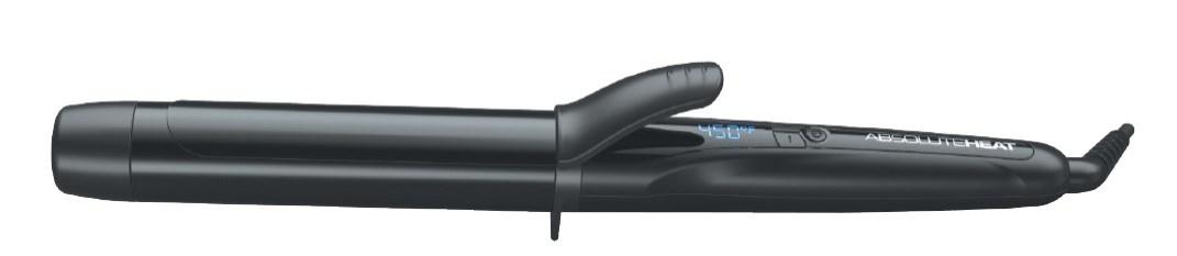 AH 32mm Black Metallic Rubber Curling