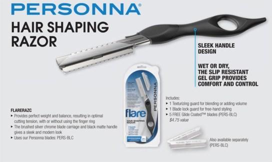 Personna Hair Shaping Razor W/5 Blades
