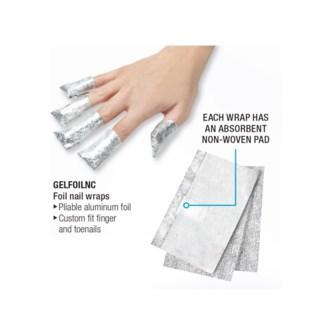SILKLINE Foil Nail Wraps and Gel Polish Removal 100/Box