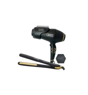 "BabylissPro GXT  1"" Flat Iron + Dryer Duo  RAPHITE SO2020"