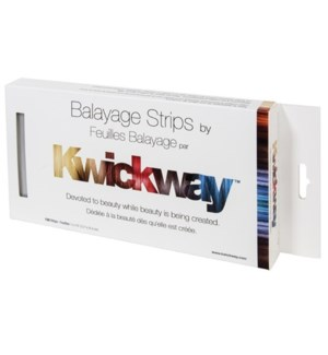 BALAYAGE Silver Strips 5x10 Inch 150 Strips